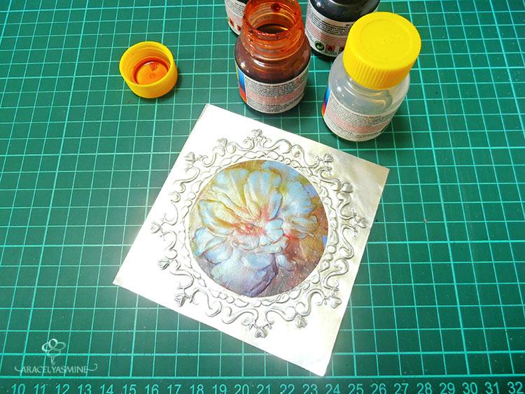 pinturas para pintar sobre el repujado en aluminio
