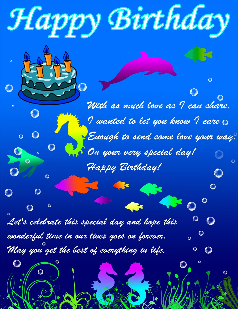 E Card Happy Birthday gangcraftnet – Send E Birthday Card