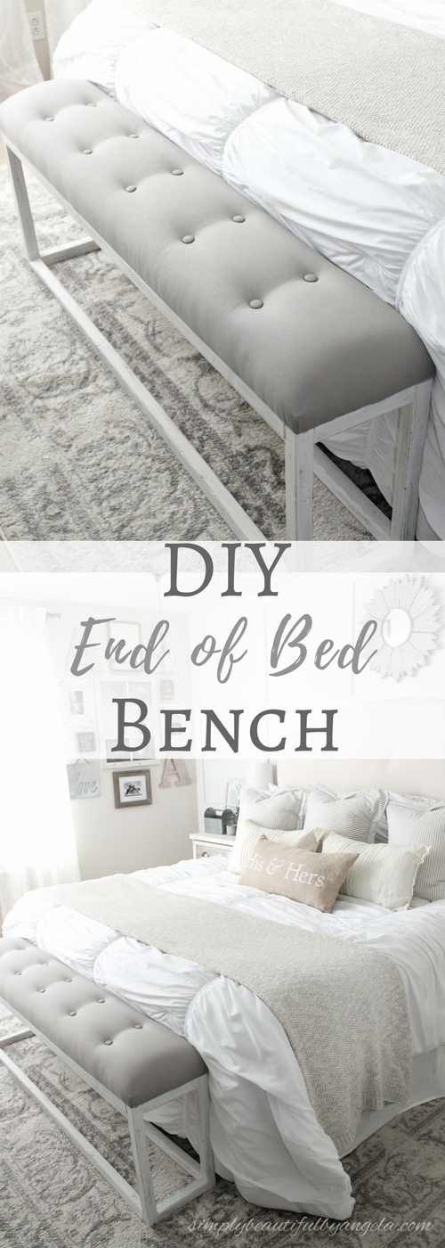 DIY Simple End Of Bed Bench