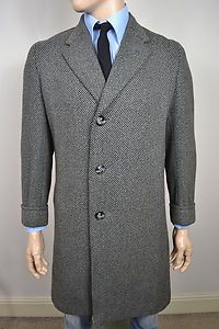 Grey tweed overcoat