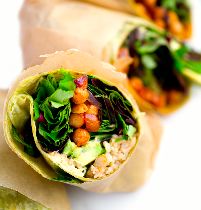 BBQ Chickpea Salad Wraps w/ Avocado