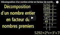 طريقة تفكيك عدد صحيح طبيعي الى جداء عوامل اولية بالفرنسية