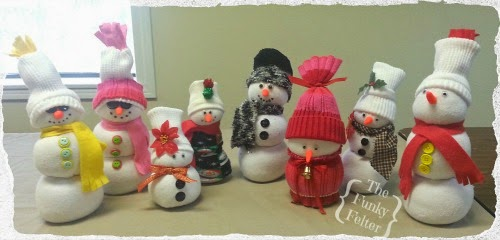 the funky felter tube sock snowman craft for church party