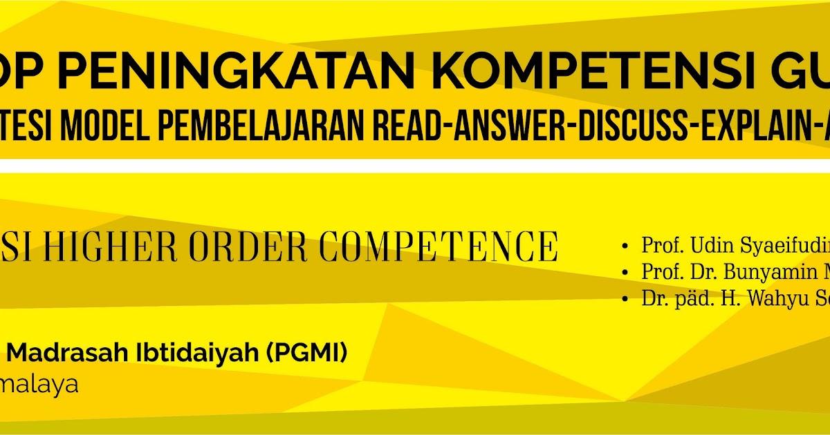 Banner Workshop Peningkatan Kompetensi Guru PGMI CorelDraw