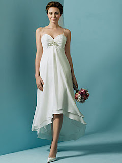 beach wedding dress tea length
