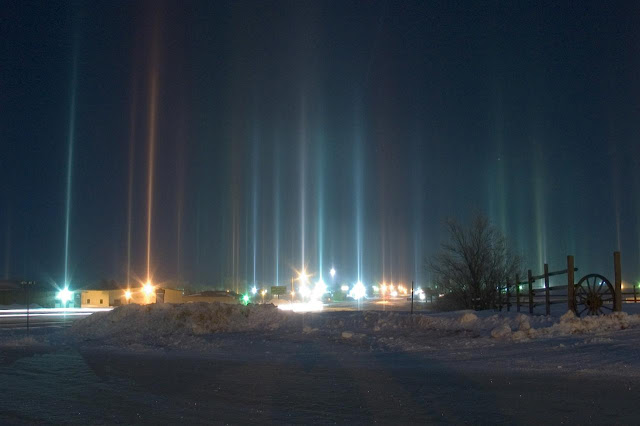 phenomenon created by the reflection of light from ice crystals