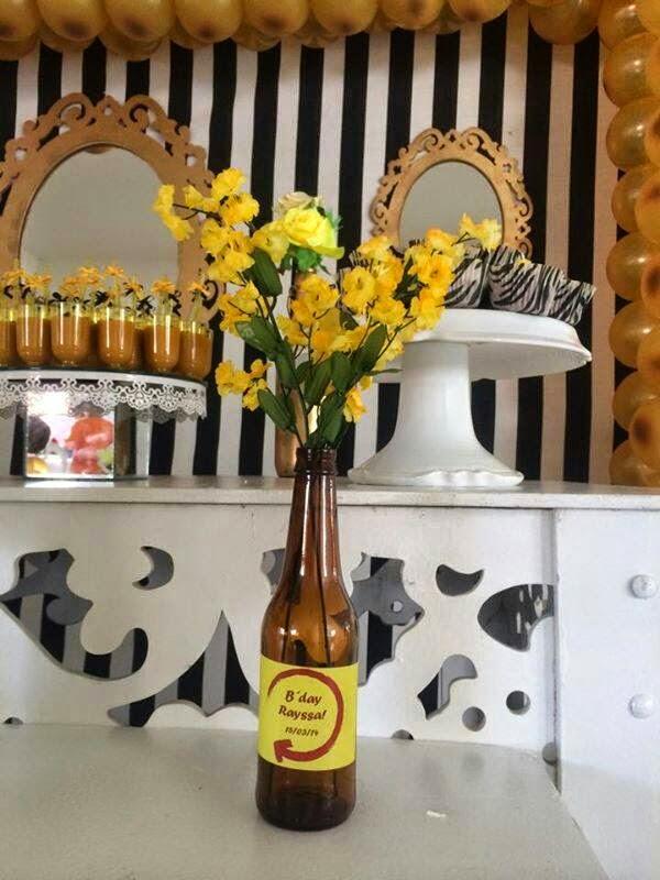 Diartes Festas Infantis: Festa Adulta Preto, amarelo e dourado