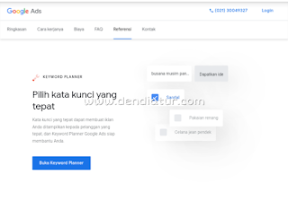 Cara riset keyword melalui keyword planner