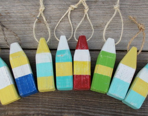 Nautical Mini Buoy Ornaments