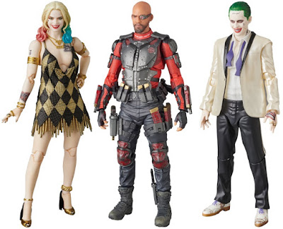 Suicide Squad MAFEX Action Figures Series 2 by Medicom – Gold Dress Edition Harley Quinn, Deadshot & Tuxedo The Joker