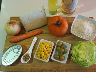 Ensalada arroz Receta pasos ingredientes