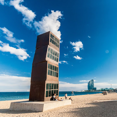 Barceloneta Beach by Laurence Norah