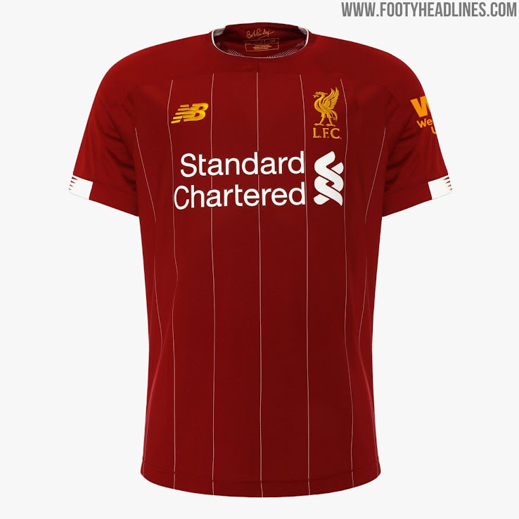e41634cd3 Liverpool s 2019-20 home jersey once again features a pretty dark shade of  red