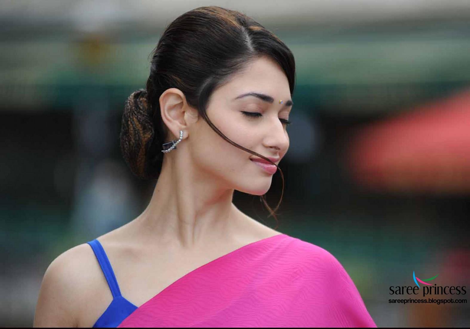 In Saree Tamanna In Himmatwala: Tamil Actress Tamanna Sizzling Hot Look In Thin Sarees