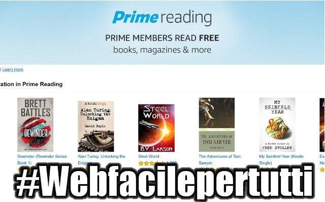 Amazon Lancia Prime Reading - Libri gratis per gli abbonati ad Amazon Prime