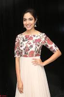 Ritu Varma smiling face Cream Anarkali dress at launch of OPPO New Selfie Camera F3 ~  Exclusive 030.JPG
