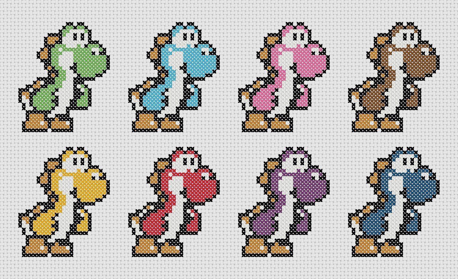 Yoshi Cross Stitch Amie Foster Designs
