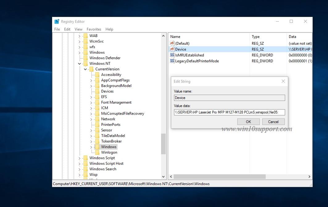How to fix Default printer cannot be set error 0x00000709 - Winfixs