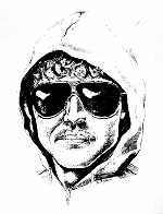 Only known portrait of Vanholio, a police sketch, often mistaken for Unabomber