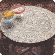 Tapete para mesita a Crochet