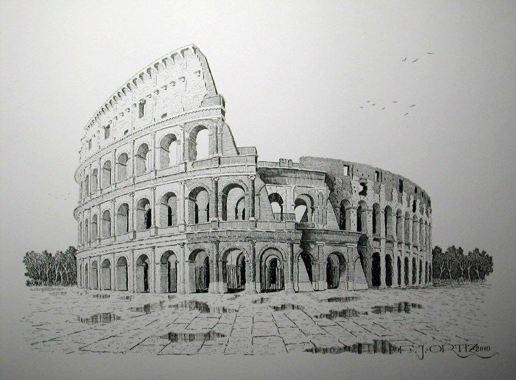 Plumillas Fjortiz El Coliseo De Roma