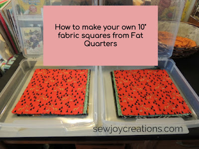 tutorial cut your own 10 inch fabric squares