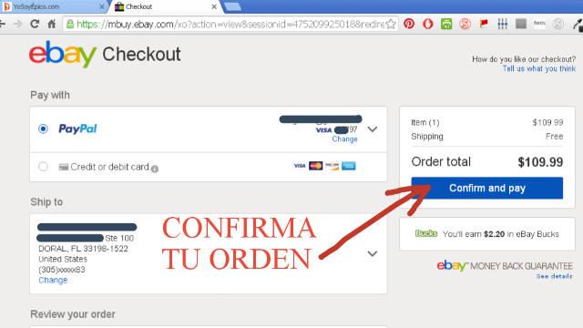 eBay confirmar y pagar