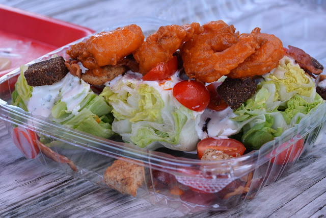 BLT Salad with Buffalo Shrimp at Liv's Shack