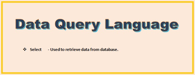 DQL Command | Data Query Language | SQL Command