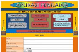Aplikasi Penilaian Kurikulum 2013 Format Excel  Versi Terbaru