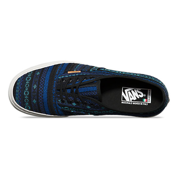 e909046485 Vans California Authentic CA. Italian Weave. Blue Black. VN000ZUIGD4 The  Authentic CA of the Vans California Collection makes for fertile ground to  shine a ...