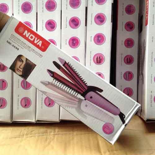 53k - Máy uốn duỗi bấm tóc Nova 8890 hộp trắng giá sỉ và lẻ rẻ nhất