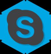skype hexagon icon