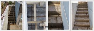 Заливка бетонной лестицы