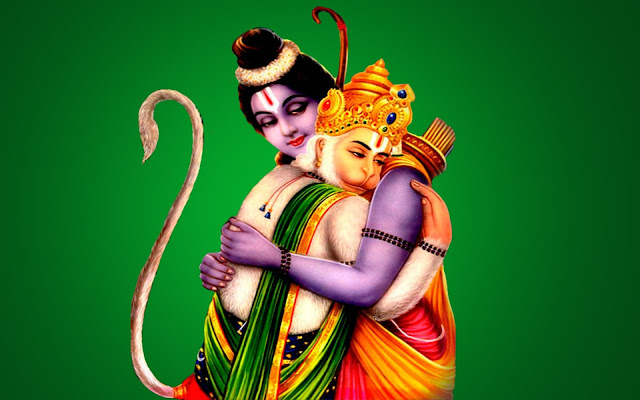 Best God Ram With Hanuman Full Size HD Wallpaper