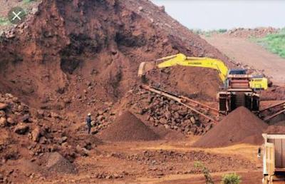 Iron ore extraction