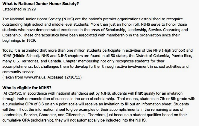national honor society essay template