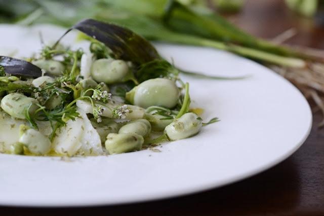 Ensalada de habas y coliflor