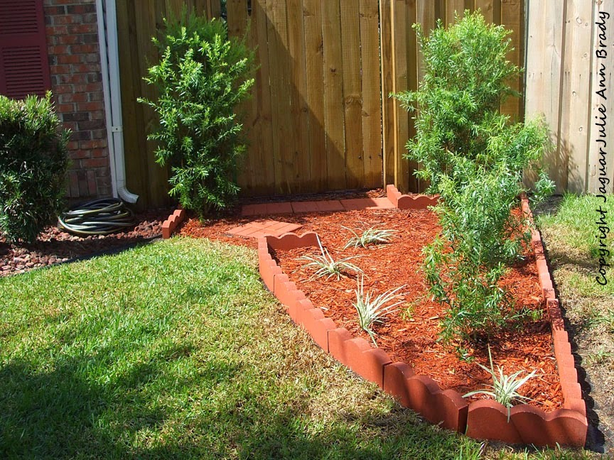 front yard accent garden diy completed