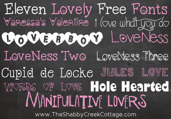 Valentine's Day is right around the corner and these romantic fonts with elven free and lovely options so use this holiday!