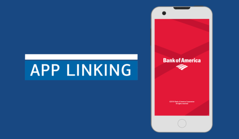 App Linking Bank of America