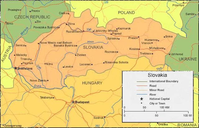 image: Slovakia Map High Resolution
