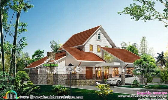 3 bed single storied house plan