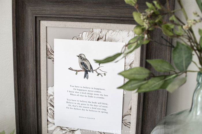 Free Printable with Bird