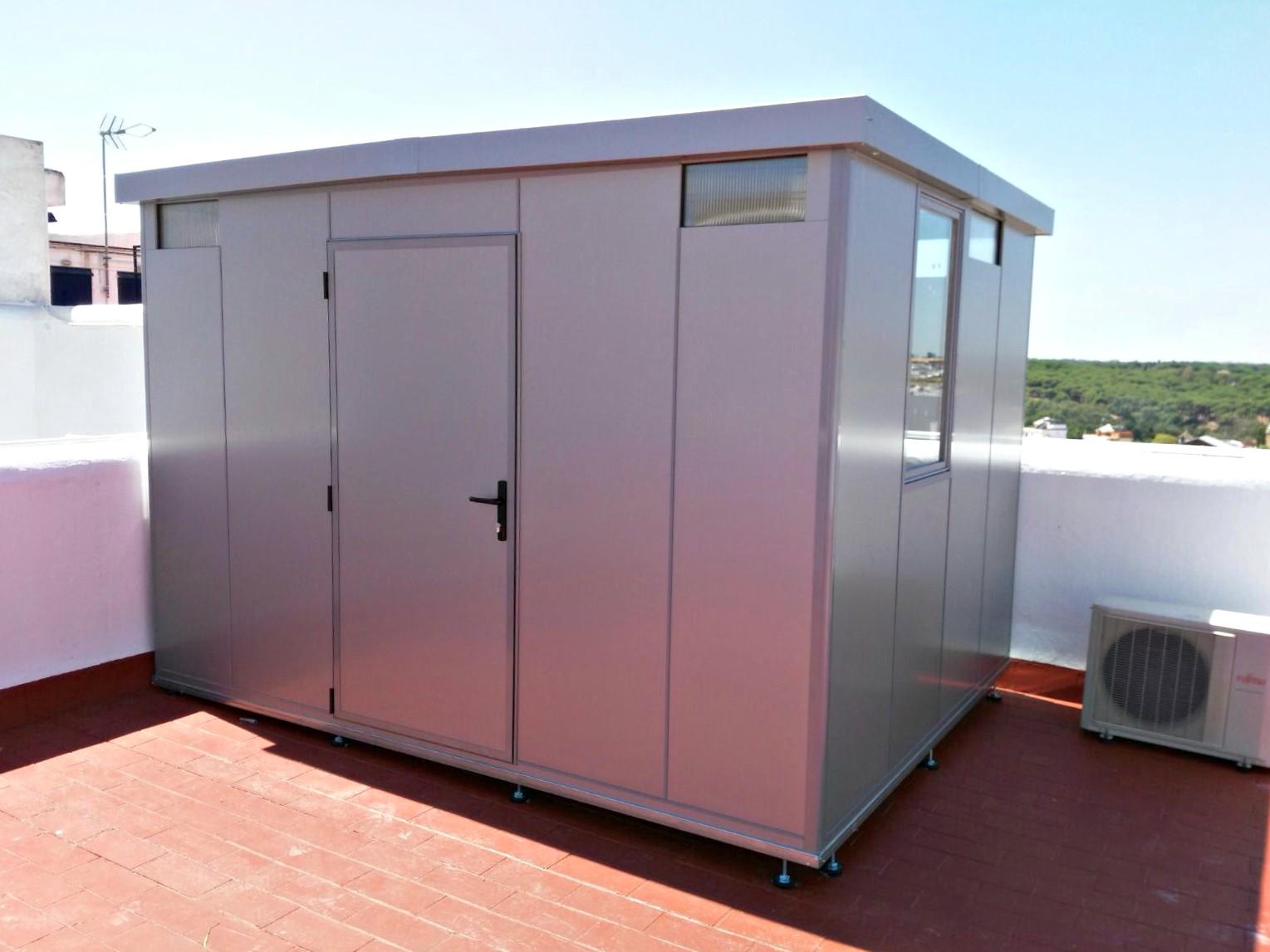 Trasteros met licos para terraza y jard n for Casetas aluminio para terrazas