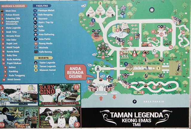 Taman Legenda TMII, Maps