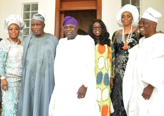 Gov Ambode,Razaq Okoya and their wives at the Ojude Oba Epe 2015 ,ojude oba festival,Akinwunmi Ambode,Razaq Okoya,