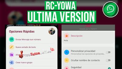 Descargar RC-YoWhatsapp Ultima Version 2019