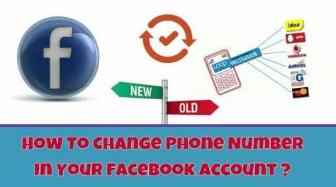 How to Change Phone Number in your facebook