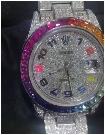 Hushpuppi Must See This! New Rainbow Diamond Rolex Watch Worth $1million, Check It Out